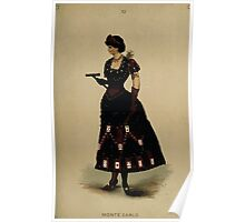 Fancy dresses described or What to wear at fancy balls by Ardern Holt 204 Monte Carlo Poster