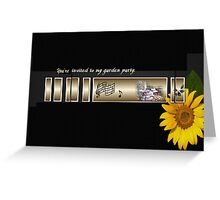 You're Invited To My Garden Party Greeting Card