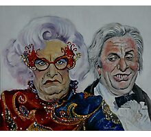 Dame Edna with Sir Les Patterson Photographic Print