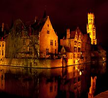 Brugge by night by Magdalena Warmuz-Dent