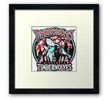 TIMBERWOLVES WHITE Framed Print