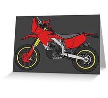 HONDA CRF450X Rally Raid Greeting Card