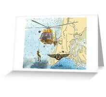 USCG Rescue Swimmer Nautical Map WA Cathy Peek Greeting Card