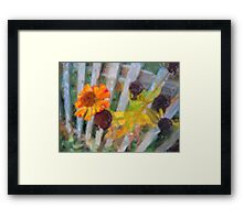 Yellow flower to the end Framed Print