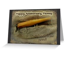 Happy Anniversary Honey Card - Vintage Atom A40 Saltwater Lure Greeting Card