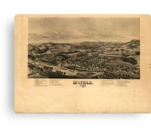 Panoramic Maps Dixfield Maine 1896 Canvas Print