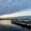 Morning Jetty - A Luminous Daybreak On Harbourfront by Georgia Mizuleva