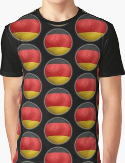 Germany - German Flag - Football or Soccer 2 Graphic T-Shirt