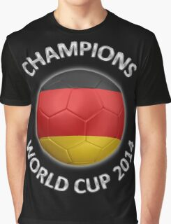 Germany - World Cup Champions 2014 - German Flag Football Soccer Ball Graphic T-Shirt