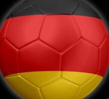 Germany - World Cup Champions 2014 - German Flag Football Soccer Ball Sticker