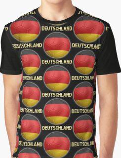 Deutschland - German Flag - Football or Soccer Ball & Text 2 Graphic T-Shirt