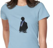 Blue Scarf Womens Fitted T-Shirt