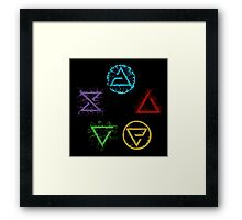 Witcher Signs Framed Print