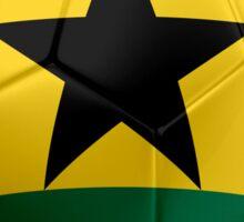 Ghana - Ghanaian Flag - Football or Soccer 2 Sticker