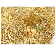 Little Old Nativity Set... Poster