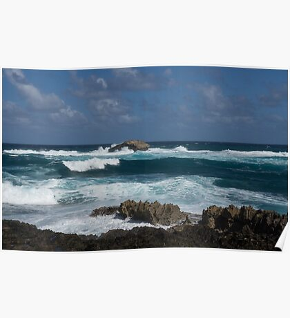 Boiling the Ocean at Laie Point, Oahu's North Shore in Hawaii Poster