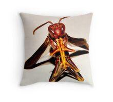 Praying Wasp Throw Pillow