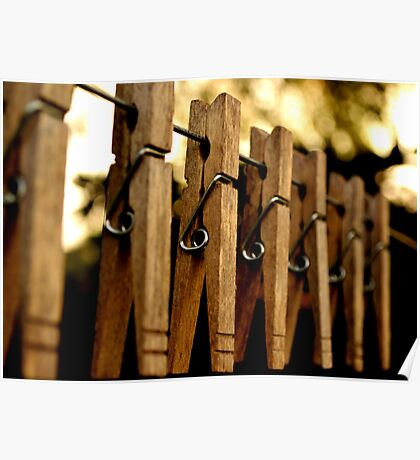 Clothes Pins Poster