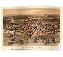 Panoramic Maps The City of Chicago as it was before the great conflagration of October 8-10 1871 Poster