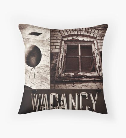 Vacant Expression Throw Pillow