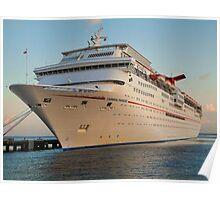 Docked Cruise ship Poster