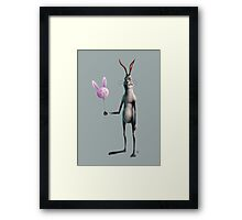 Rabbit & Balloon Framed Print