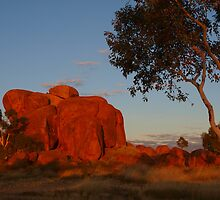 Devils Marbles at Sunrise, Northern Territory by Virginia  McGowan