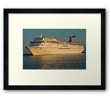 Docked Cruise ship Framed Print