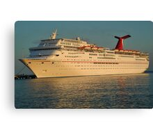 Docked Cruise ship Canvas Print
