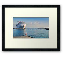Cruise Ships Framed Print