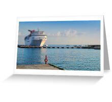 Cruise Ships Greeting Card