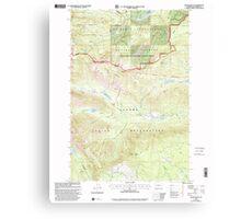 USGS Topo Map Washington State WA Jennies Butte 241697 2000 24000 Canvas Print