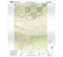 USGS Topo Map Washington State WA Jennies Butte 241697 2000 24000 Poster