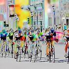 Cycling Down Main Street USA by Vicki Pelham