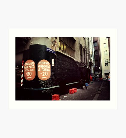 Melbourne streetscape Art Print