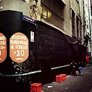 Melbourne streetscape by Melinda  Ison - Poor