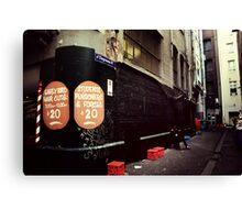 Melbourne streetscape Canvas Print