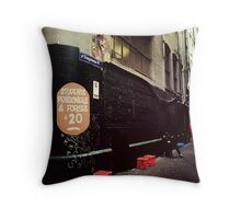 Melbourne streetscape Throw Pillow