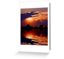 Painting With Clouds Greeting Card