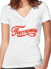 FreeThinker Vintage by Tai's Tees Women's Fitted V-Neck T-Shirt