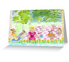 teddy bears picnic Greeting Card