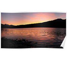 Sunset at Patricia Lake Poster