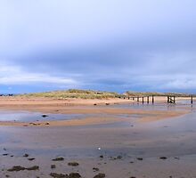 Lossiemouth Bridge and Clouds by AlbertLake