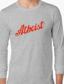 Classic Atheist Script by Tai's Tees Long Sleeve T-Shirt