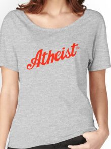 Classic Atheist Script by Tai's Tees Women's Relaxed Fit T-Shirt