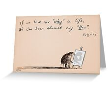 why and how Greeting Card