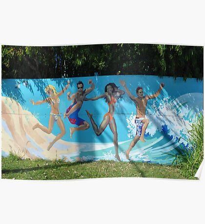 mural at Mooloolaba Poster