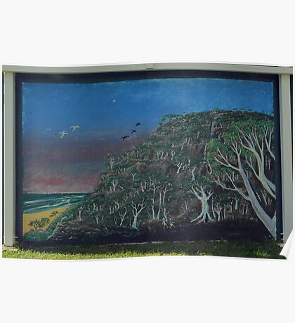 mural at coolum Qld  Poster
