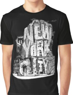 New York City Pencil by Tai's Tees Graphic T-Shirt