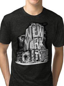 New York City Pencil by Tai's Tees Tri-blend T-Shirt